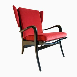 Mid-Century Wingback Armchair by Pierre Guariche