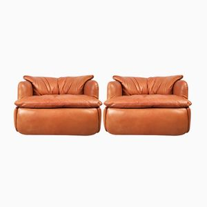 Vintage Confidential Lounge Chairs by Alberto Rosselli for Saporiti, Set of 2