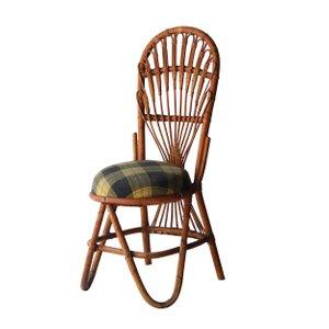 Französischer Bambus Stuhl, 1960er