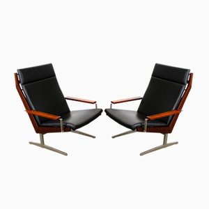Vintage Lotus Lounge Chairs with T-Feet by Rob Parry for Gelderland, Set of 2