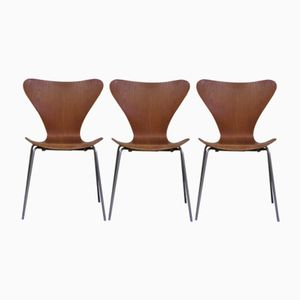 Dänische Vintage Stühle von Arne Jacobsen für Fritz Hansen, 1960er, 3er Set