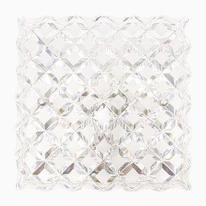 Kristallglas Wandlampen, 1960er, 3er Set