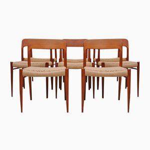 Dänische Modell 75 Stühle von Niels Møller für J.L. Møllers, 6er Set