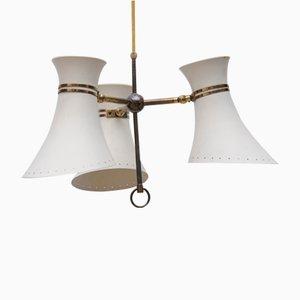 Mid-Century Deckenlampe mit Drei Leuchten