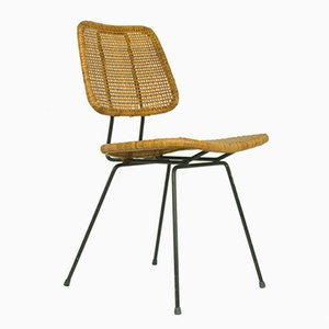 Italian Iron and Rattan Chair, 1950s