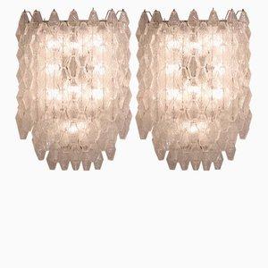 Wandlampen von Carlo Scarpa für Venini, 1950er, 2er Set