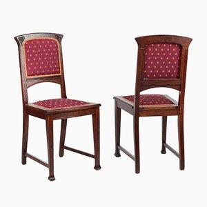 Antique Art Nouveau Chairs, Set of 2