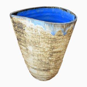 Deutsche Vintage Keramikvase von Gerhard Liebenthron