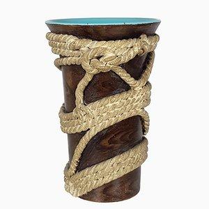 Corde Vase von Ugo Zaccagni für Zaccagnini Ceramiche, 1930er