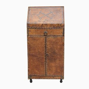 Art Deco Leather Studded Secretaire, 1930s