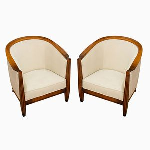 Art Deco French Armchairs, 1970s, Set of 2