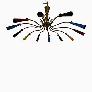 Mid-Century Multicolored Dutch Chandelier