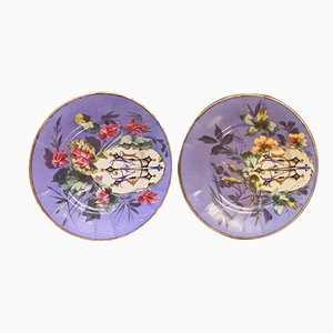 Handmade Ceramic Saucers, 1960s, Set of 2