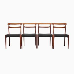 Vintage Danish Rosewood Dining Chairs, Set of 4