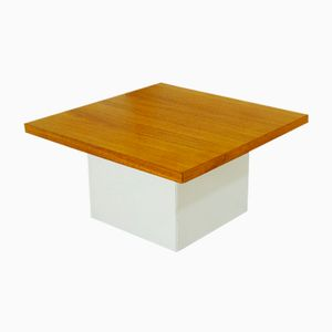 German Square Walnut Coffee Table from Cor, 1960s