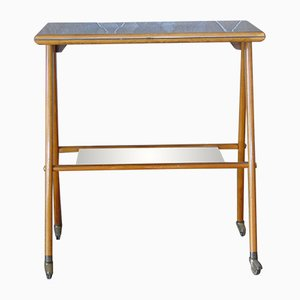 Mid-Century Console Table on Castors, 1950s