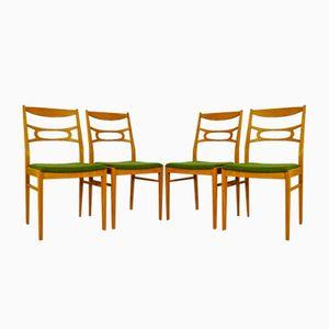 Chaises Vintage en Chêne Blanchi, Suède, 1960s, Set de 4