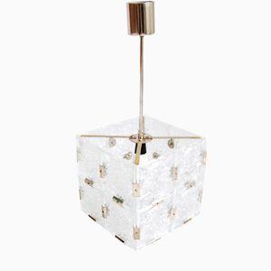 Czech Art Nouveau Glass Lamp from ESC, 1950s