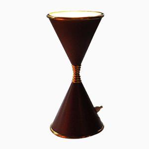 Mid-Century Uhrglas Lampe von Angelo Lelii für Arredoluce