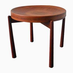 Vintage Round Teak Side Table by Jens Quistgaard for Nissen