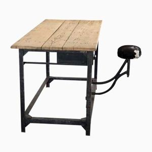 Vintage French Post Office Sorting Table