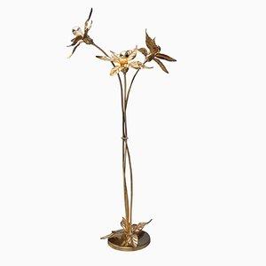 Belgian Brass Floor Lamp, 1970s