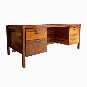 Jacaranda Twin Pedestal Executive Desk by Jorge Zalszupin for L'Atelier, 1960s