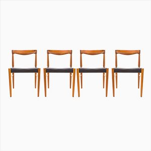 Vintage Danish Dining Chairs by H.W. Klein for Bramin, 1960s, Set of 4