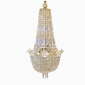 Large Antique Danish Chandelier, 1890s