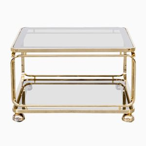 Brass and Glass Coffee Table from Allegri, 1960s