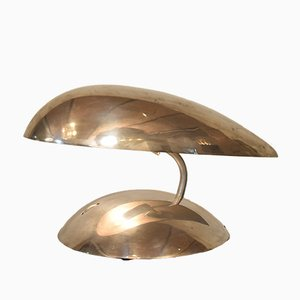 Polished Aluminum Space Age Table Lamp, 1980s