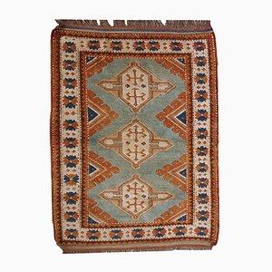 Vintage Russian Kazak Handmade Rug, 1970s