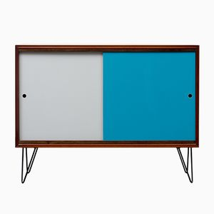 Mid-Century Teak Sideboard with Colored Doors, 1960s