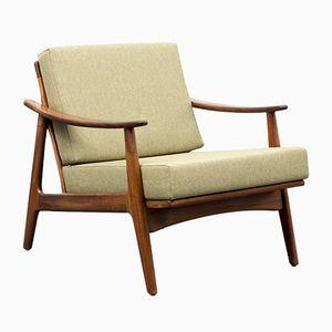 Mid-Century Green Teak Easy Chair, 1960s