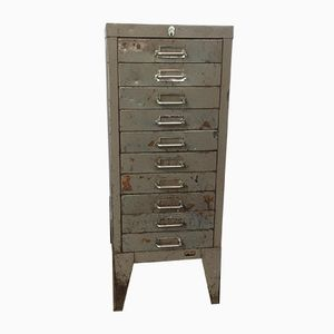 Industrial Steel Ten-Drawer Filing Cabinet from Stor, 1950s
