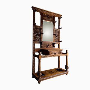 Antike Viktorianische Gothische Geschwungene Garderobe