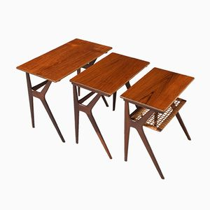 Tables Gigognes Mid-Century par Johannes Andersen pour CFC Silkeborg