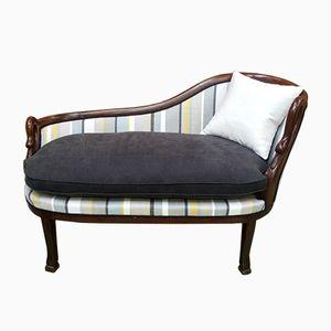 Chaise longue antica in mogano