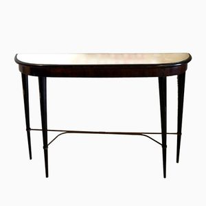 Italian Mid-Century Console Table with Mirrored Top