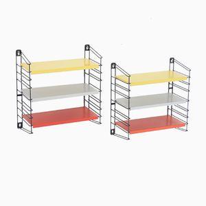 Kleine Niederländische Regalsysteme in Rot, Gelb & Grau von A. D. Dekker für Tomado, 2er Set