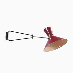 Französische Diabolo Wandlampe von René Mathieu für Lunel, 1950er