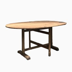 Vintage Oval Wooden Table