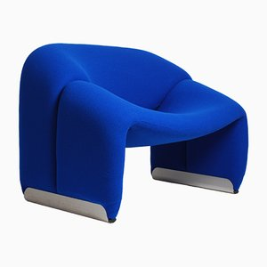 Vintage Blue F598 Groovy Chair by Pierre Paulin for Artifort