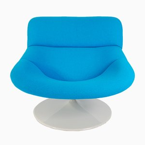 Vintage Blue F518 Lounge Swivel Chair by Geoffrey Harcourt for Artifort