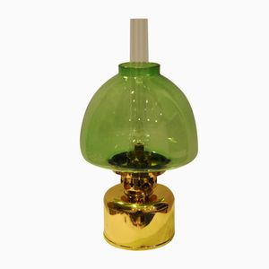 Vintage Green Kerosene or Oil Lamp from Hans-Agne Jakobsson