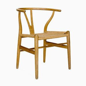 Mid-Century CH24 Wishbone Chair by Hans J. Wegner for Carl Hansen & Søn