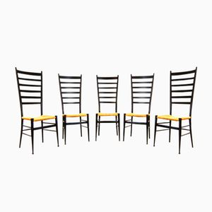 Vintage Italian Dining Chairs, Set of 5