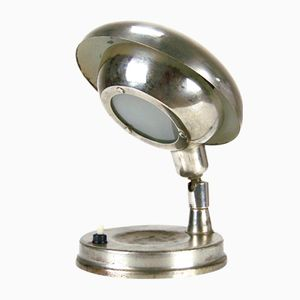 Czech Cyclopean Chromed Table Lamp, 1940s