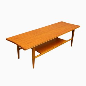 Table Basse Mid-Century en Teck & Verre de Richard Hornby