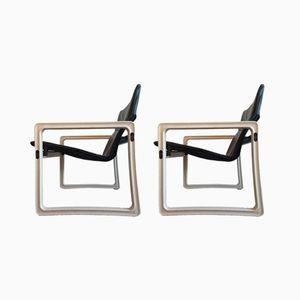 Vintage Upsilon Armlehnstuhl von Just Meijer für Kembo, 2er Set